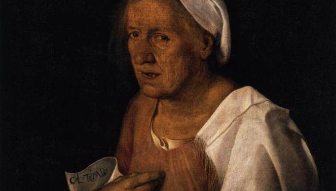 """Giorgione da Castelfranco, """"Stara kobieta"""""""